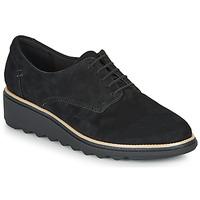 Topánky Ženy Derbie Clarks SHARON NOEL Čierna