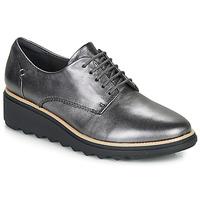 Topánky Ženy Derbie Clarks SHARON NOEL Strieborná