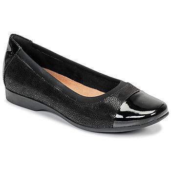 Topánky Ženy Balerínky a babies Clarks UN DARCEY CAP Čierna