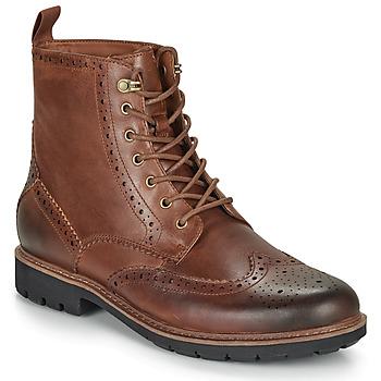 Topánky Muži Polokozačky Clarks BATCOMBE LORD Ťavia hnedá