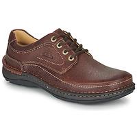 Topánky Muži Derbie Clarks NATURE THREE Hnedá