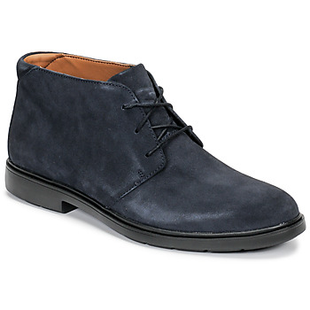 Topánky Muži Polokozačky Clarks UN TAILOR MID Námornícka modrá