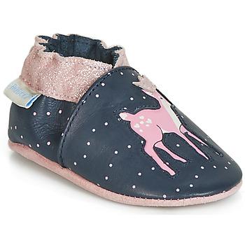 Topánky Dievčatá Detské papuče Robeez LITTLE FAWN Námornícka modrá / Ružová