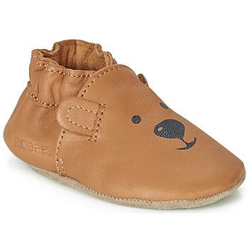 Topánky Deti Detské papuče Robeez SWEETY BEAR Ťavia hnedá