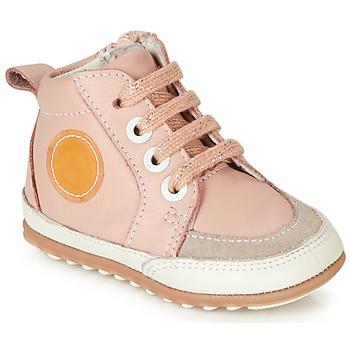 Topánky Dievčatá Polokozačky Robeez MIGO Ružová