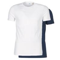Oblečenie Muži Tričká s krátkym rukávom Levi's SLIM 2PK CREWNECK 1 Námornícka modrá / Biela