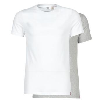 Oblečenie Muži Tričká s krátkym rukávom Levi's SLIM 2PK CREWNECK 1 Biela / Šedá
