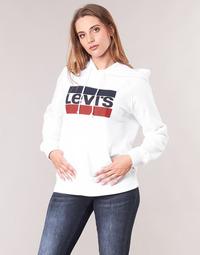 Oblečenie Ženy Mikiny Levi's GRAPHIC SPORT HOODIE Biela