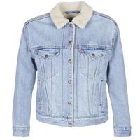 Oblečenie Ženy Džínsové bundy Levi's EX-BF SHERPA TRUCKER Modrá