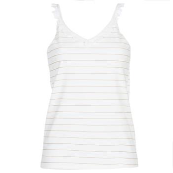 Oblečenie Ženy Blúzky Betty London KATACEL Biela / Zlatá
