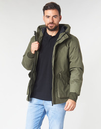 Oblečenie Muži Bundy  Scotch & Soda SHORT HOODED JACKET WITH INSIDE QUILTING Kaki