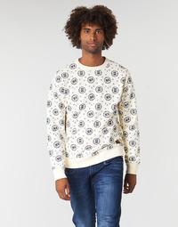 Oblečenie Muži Mikiny Scotch & Soda CREWNECK SWEAT WITH LOGO ALL-OVER PRINT Biela