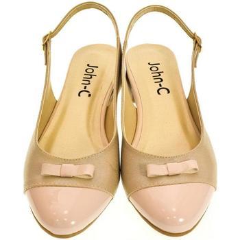 de673513ae Topánky Ženy Balerínky a babies John-C Dámske svetlo-ružové sandále EVELINE  ružová