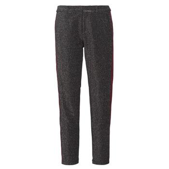 Oblečenie Ženy Nohavice päťvreckové Maison Scotch TAPERED LUREX PANTS WITH VELVET SIDE PANEL Šedá