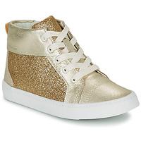 Topánky Dievčatá Členkové tenisky Clarks CITY OASISHI K Zlatá