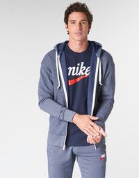 Oblečenie Muži Mikiny Nike M NSW HERITAGE HOODIE FZ Námornícka modrá