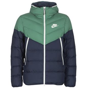 Oblečenie Muži Vyteplené bundy Nike M NSW DWN FILL WR JKT HD Námornícka modrá / Zelená