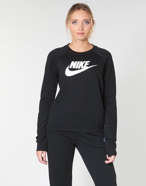 Oblečenie Ženy Mikiny Nike W NSW ESSNTL CREW FLC HBR Čierna