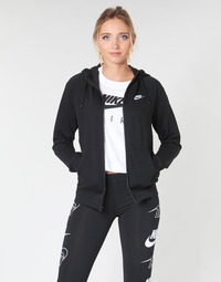 Oblečenie Ženy Mikiny Nike W NSW ESSNTL HOODIE FZ FLC Čierna