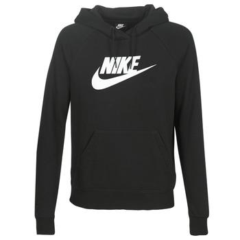 Oblečenie Ženy Mikiny Nike W NSW ESSNTL HOODIE PO  HBR Čierna