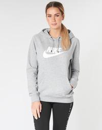 Oblečenie Ženy Mikiny Nike W NSW ESSNTL HOODIE PO  HBR Šedá