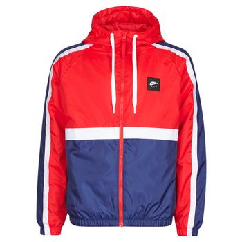 Oblečenie Muži Vrchné bundy Nike M NSW NIKE AIR JKT SSNL WVN Červená / Námornícka modrá