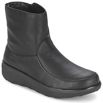 Topánky Ženy Čižmičky FitFlop LOAFF SHORTY ZIP BOOT Čierna