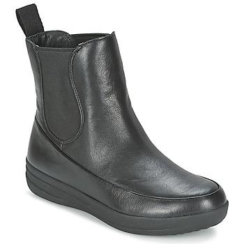 Topánky Ženy Polokozačky FitFlop FF-LUX CHELSEA BOOT Čierna
