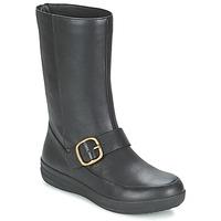 Topánky Ženy Polokozačky FitFlop FF-LUX BIKER čierna