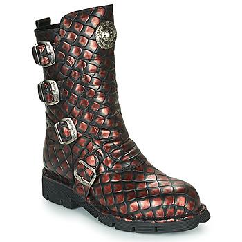 Topánky Ženy Polokozačky New Rock M-373X Čierna / Červená