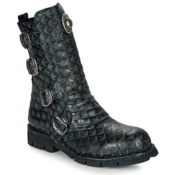 Topánky Polokozačky New Rock M-373X Čierna