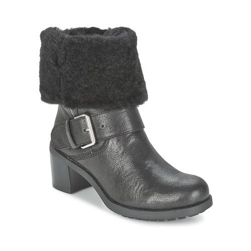Topánky Ženy Polokozačky Clarks PILICO PLACE Čierna