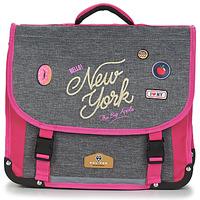 Tašky Dievčatá Školské tašky a aktovky Back To School POL FOX NEW YORK CARTABLE 38 CM Šedá / Ružová