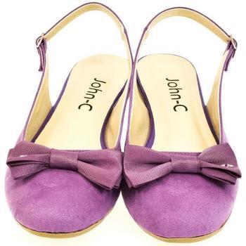 Topánky Ženy Sandále John-C Dámske fialové sandále SIARA fialová