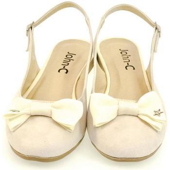 Topánky Ženy Sandále John-C Dámske krémové sandále SIARA krémová