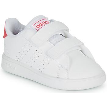 Topánky Dievčatá Nízke tenisky adidas Originals ADVANTAGE I Biela