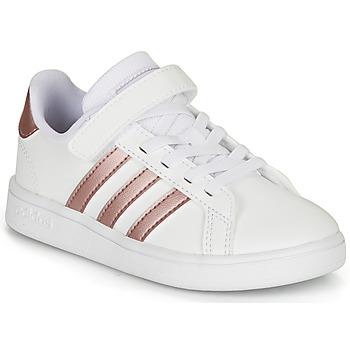 Topánky Dievčatá Nízke tenisky adidas Originals GRAND COURT C Biela