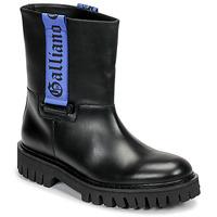 Topánky Muži Polokozačky John Galliano 8560 Čierna / Modrá