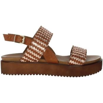 Topánky Ženy Sandále Donna Style 19-537 Brown leather