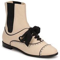 Topánky Ženy Polokozačky Moschino MA2103 Béžová