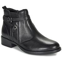 Topánky Dievčatá Polokozačky André MATHI Čierna
