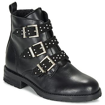 Topánky Dievčatá Polokozačky André REGLISSA Čierna