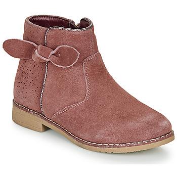 Topánky Dievčatá Polokozačky André MALYA Ružová