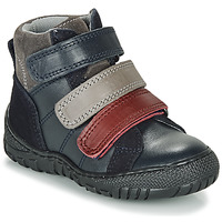 Topánky Chlapci Polokozačky André NOAM Námornícka modrá