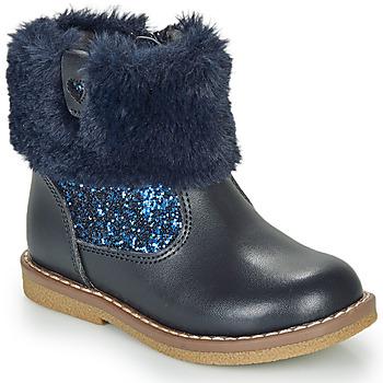 Topánky Dievčatá Polokozačky André ADELA Námornícka modrá