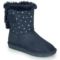 Topánky Dievčatá Polokozačky André ZAPALA Námornícka modrá
