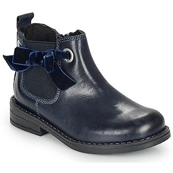 Topánky Dievčatá Polokozačky André VAL Námornícka modrá