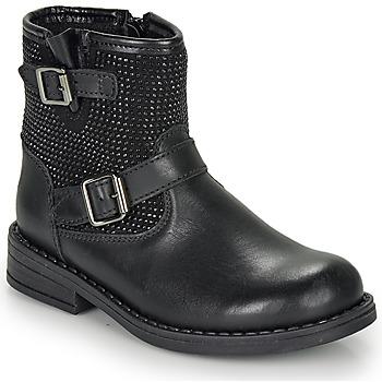 Topánky Dievčatá Polokozačky André CYDRINE Čierna