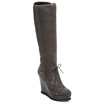Topánky Ženy Čižmy do mesta Moschino Cheap & CHIC CA2603 Hnedošedá