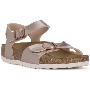 Topánky Dievčatá Sandále Birkenstock RIO METALLIC LILAC Grigio